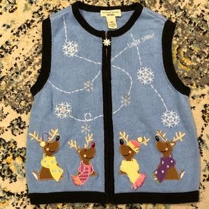 Bechamel Petites Christmas Vest. Size Small Petite
